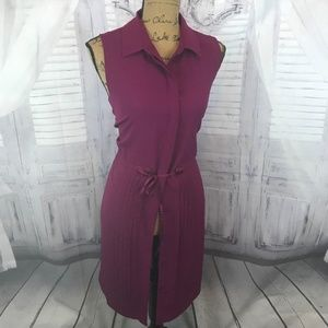 Tommy Hilfiger sz large L dress sleeveless purple